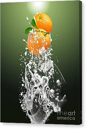 Produce Canvas Print - Orange Splash by Marvin Blaine