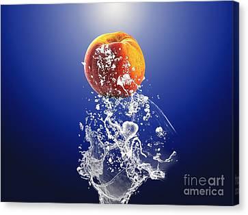 Peach Canvas Print - Peach Splash by Marvin Blaine