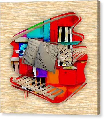 Piano Collection Canvas Print