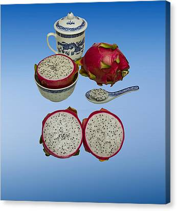 Canvas Print featuring the photograph Pink Dragon Fruit  by David French