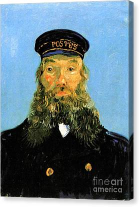 Portrait Of The Postman Joseph Roulin Canvas Print