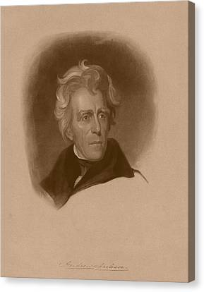 Patriots Canvas Print - President Andrew Jackson by War Is Hell Store