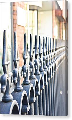 Separation Canvas Print - Railings by Tom Gowanlock
