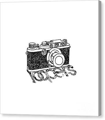 Analog Canvas Print - Rangefinder Camera by Setsiri Silapasuwanchai