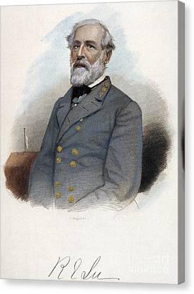 Robert E. Lee (1807-1870) Canvas Print by Granger