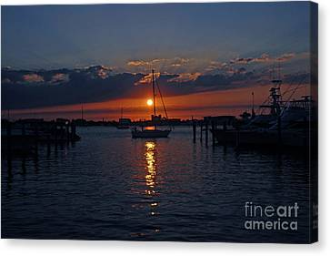 Canvas Print featuring the photograph 5- Sailfish Marina Sunset In Paradise by Joseph Keane