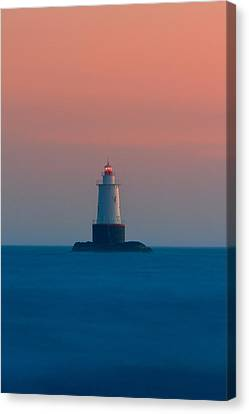 New England Lighthouse Canvas Print - Sakonnet Light by Bryan Bzdula