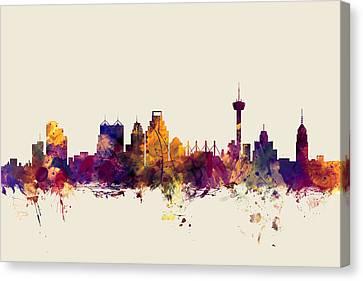 San Antonio Texas Skyline Canvas Print by Michael Tompsett