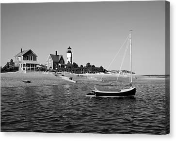 Canvas Print featuring the photograph Sandy Neck Lighthouse by Charles Harden