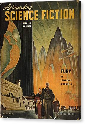 Science Fiction Magazine Canvas Print by Granger