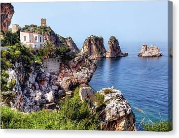 Scopello - Sicily Canvas Print by Joana Kruse