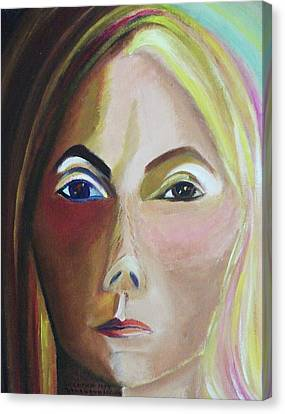 Self Portrait Canvas Print by Suzanne  Marie Leclair