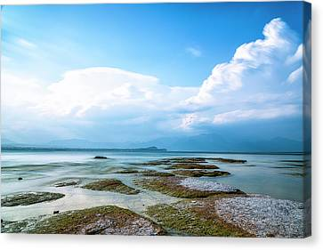 Canvas Print featuring the photograph Sirmione by Traven Milovich