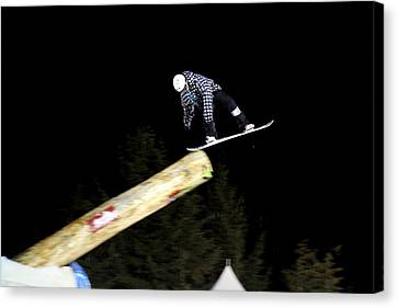 Snowboarder At The Telus Snowboard Festival Whistler 2010 Canvas Print