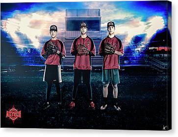 Canvas Print featuring the digital art Southwest Aztecs Baseball Organization by Nicholas Grunas