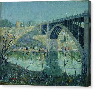 Lawson Canvas Print - Spring Night, Harlem River by Ernest Lawson