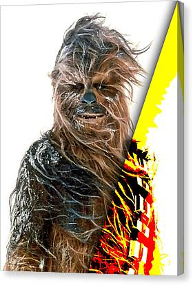 Star Wars Chewbacca Collection Canvas Print by Marvin Blaine