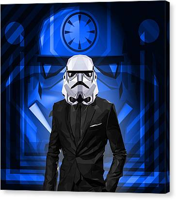 Star Wars Stormtrooper Canvas Print by Gallini Design