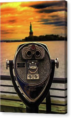 Democracy Canvas Print - Statue Of Liberty by Martin Newman