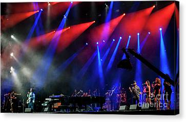 Stevie Wonder And Band Canvas Print