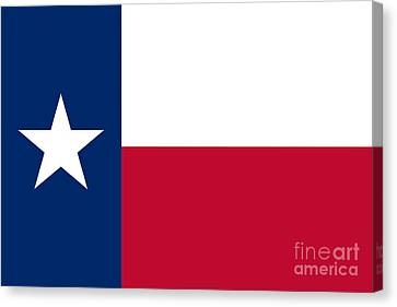 Texas Flag Canvas Print by Frederick Holiday