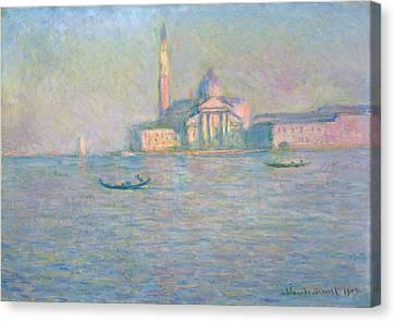 The Church Of San Giorgio Maggiore, Venice Canvas Print by Claude Monet