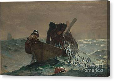 The Herring Net Canvas Print by Celestial Images