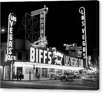 Glowing Canvas Print - The Las Vegas Strip by Underwood Archives