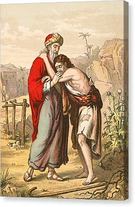The Return Of The Prodigal Son Canvas Print by English School