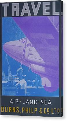 Travel Air Land Sea Canvas Print by David Studwell