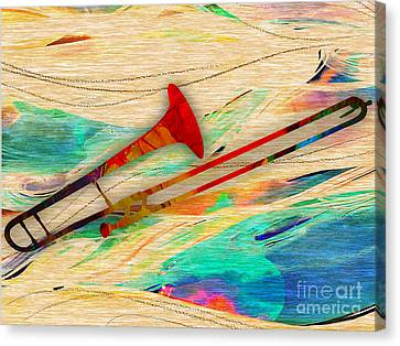 Trombone Collection Canvas Print