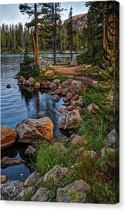 Mountain Reflection Lake Summit Mirror Canvas Print - Uinta Mountains, Utah by Utah Images