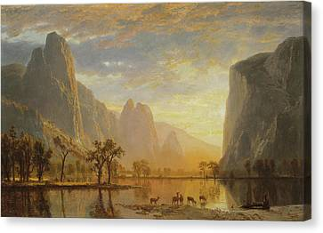Valley Of The Yosemite Canvas Print