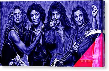 Rock And Roll Canvas Print - Van Halen Collection by Marvin Blaine