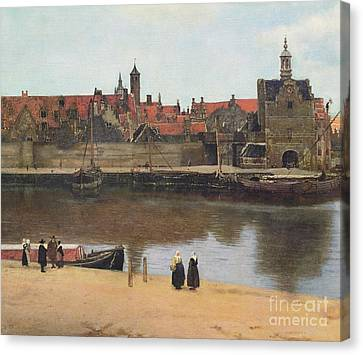 Port Town Canvas Print - View Of Delft by Jan Vermeer