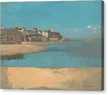 Village By The Sea In Brittany Canvas Print
