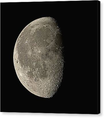 Waning Gibbous Moon Canvas Print by Eckhard Slawik