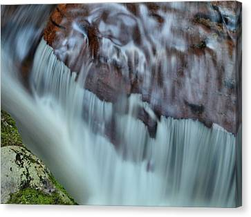 Water Movement Detail Canvas Print by Stephen  Vecchiotti