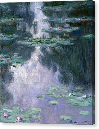 Weeping Willow Canvas Print - Waterlilies by Claude Monet