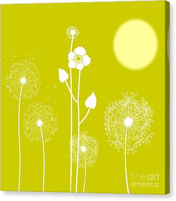 Wild Flowers Canvas Print by Celestial Images
