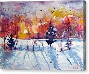 Winter Canvas Print by Kovacs Anna Brigitta