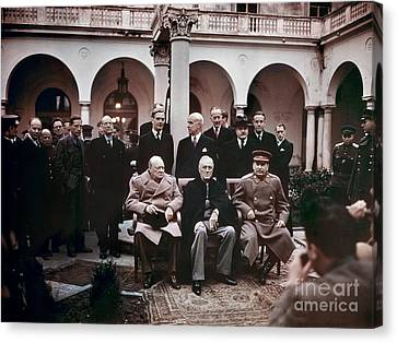 Yalta Conference, 1945 Canvas Print by Granger