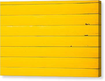 Yellow Metal Canvas Print by Tom Gowanlock