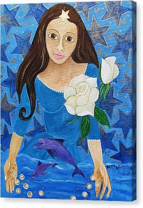 Yemanja Canvas Print by Maria Matheus Maria Santeira