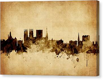 York England Skyline Canvas Print by Michael Tompsett