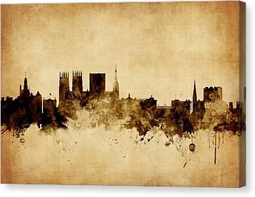 Michael Canvas Print - York England Skyline by Michael Tompsett