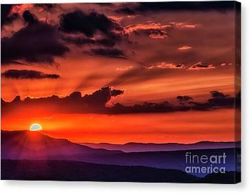 Allegheny Mountain Sunrise Canvas Print