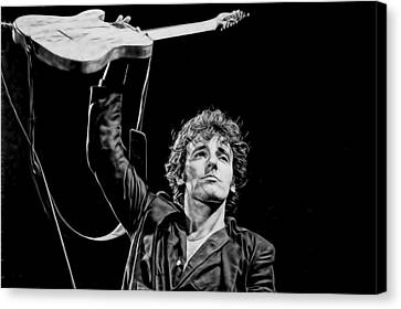 Celebrities Canvas Print - Bruce Springsteen Collection by Marvin Blaine