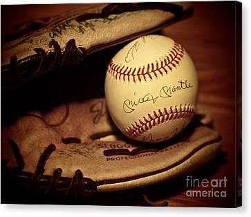 50 Home Run Baseball Canvas Print by Mark Miller
