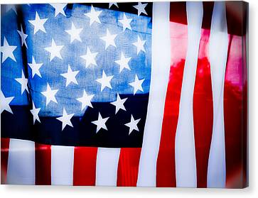 50 Stars 13 Bars Canvas Print by Keith Sanders